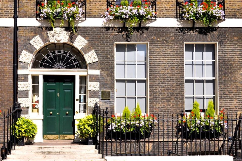 Huis in Bloomsbury, Londen, Groot-Brittannië