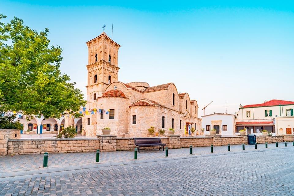 De kerk van Agios Lazaros in Larnaka, Cyprus