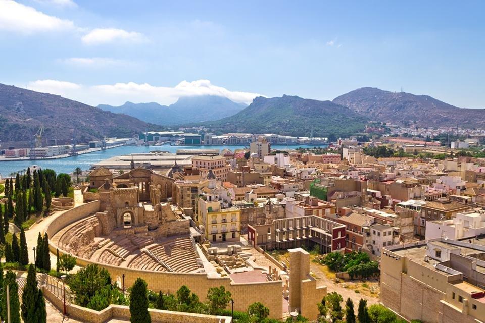 Uitzicht over Cartagena in Spanje