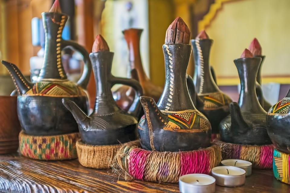 Koffiepot in Ethiopië