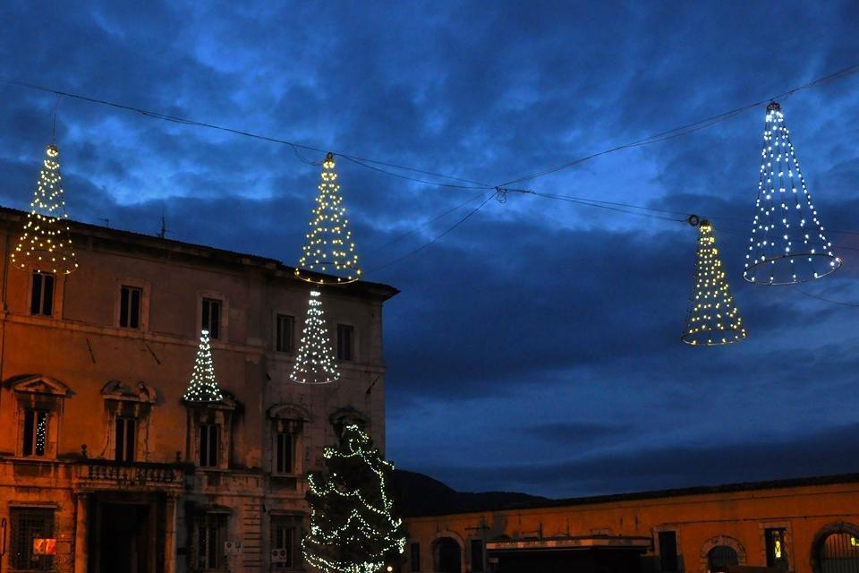 Kerst in Spoleto, Umbrië, Italië