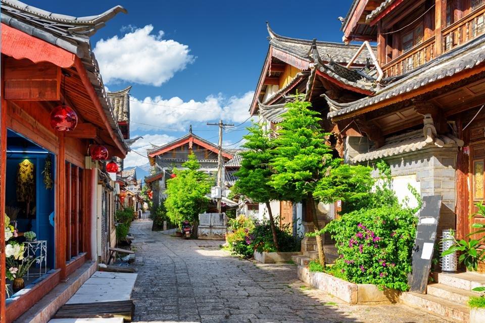 Straatbeeld in Lijiang, China