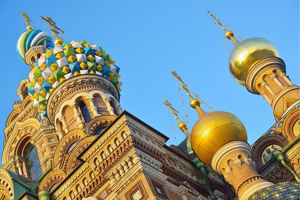 De Verlosserkerk in Sint Petersburg, Rusland