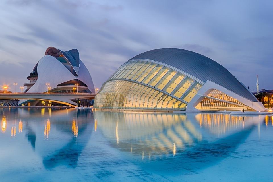 De Stad van de Kunst en de Wetenschap in Valencia, Spanje