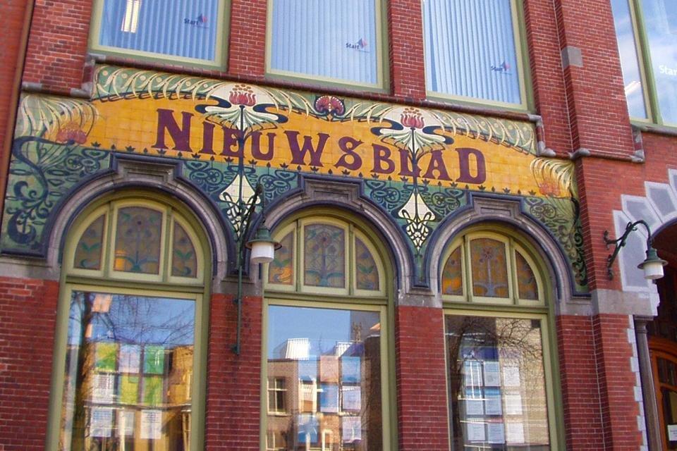 Het pand van het Nieuwsblad van het Noorden Groningen Nederland
