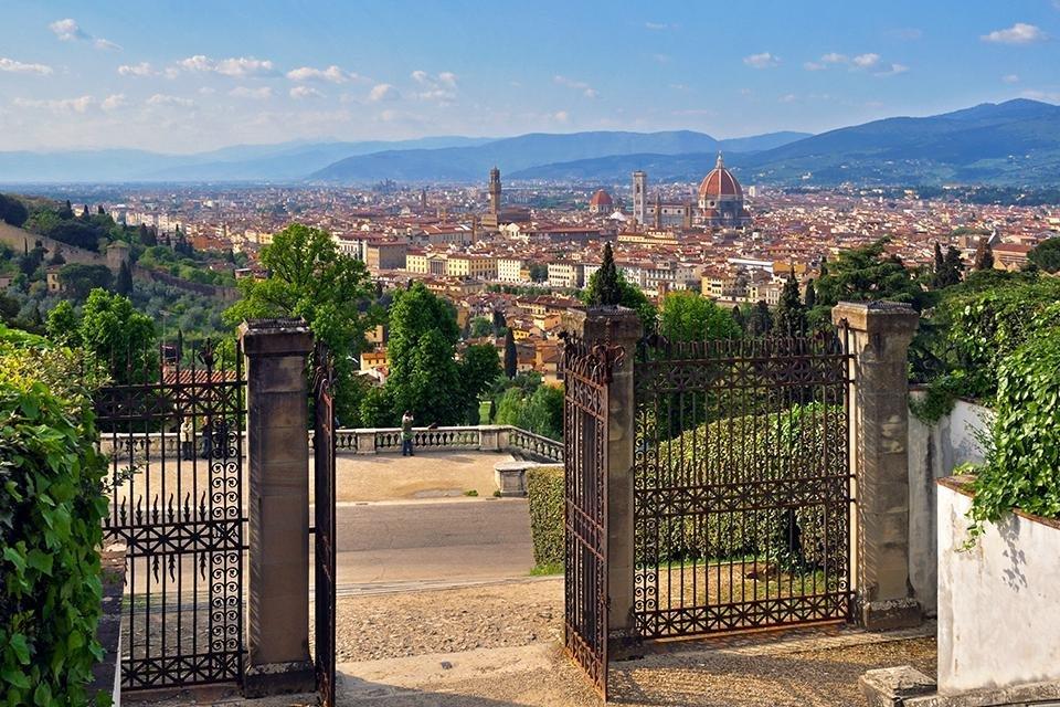 Florence, vanaf de San Miniato al Monte, Italië