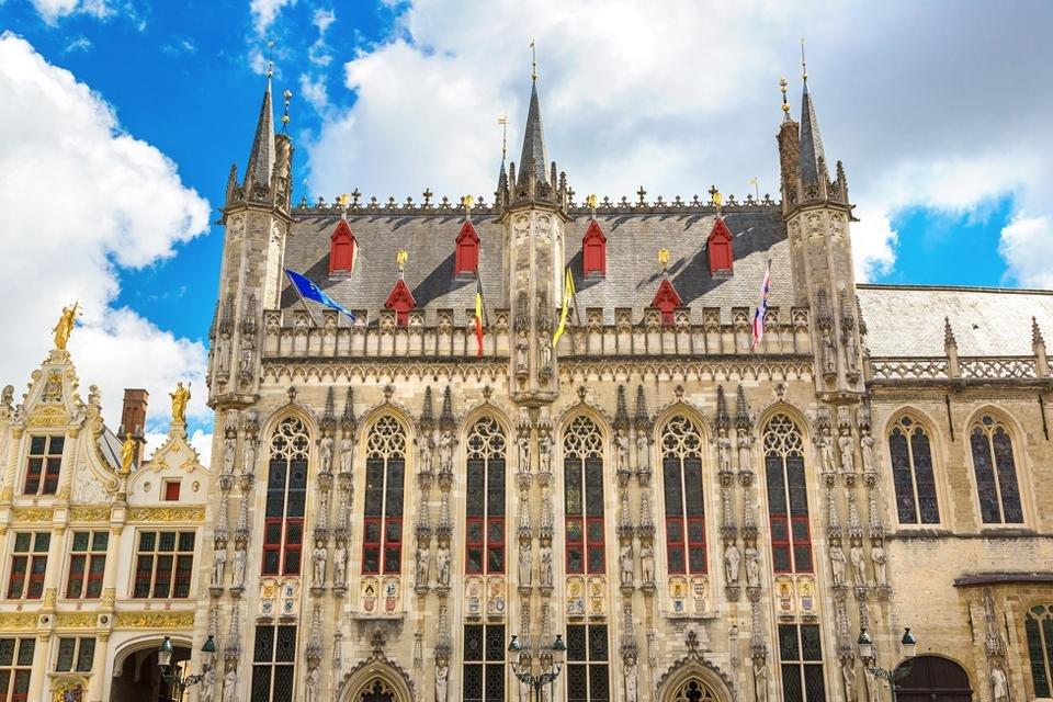 Het stadhuis in Brugge, België