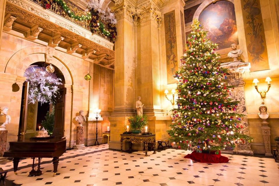 Castle Howard in Yorkshire, Groot-Brittannië, tijdens kerst