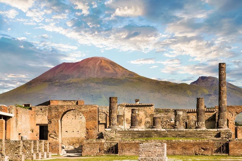 De opgraving van Pompeï in Italië