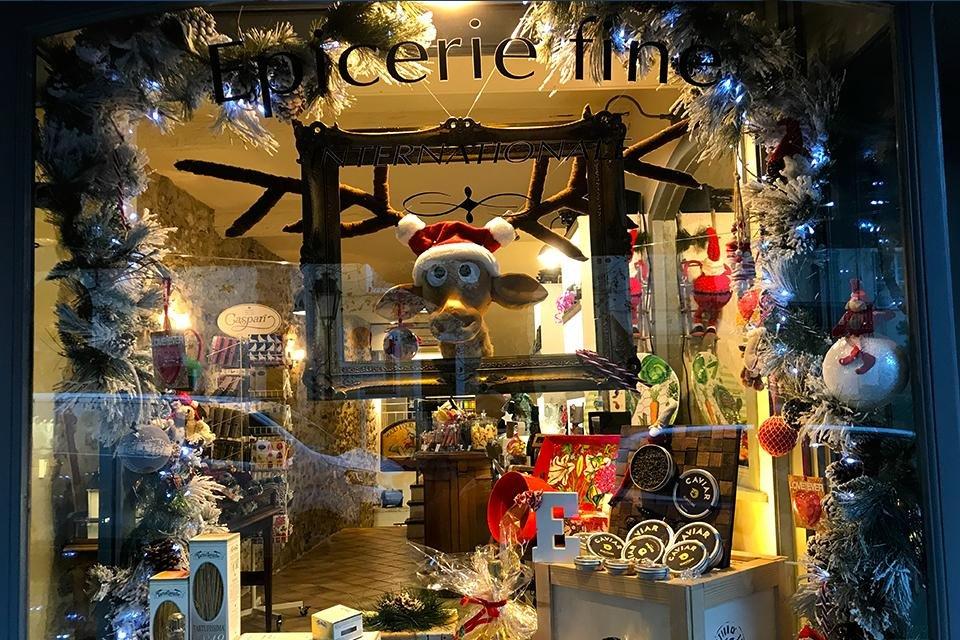 Kerstetalage in Antibes, Frankrijk