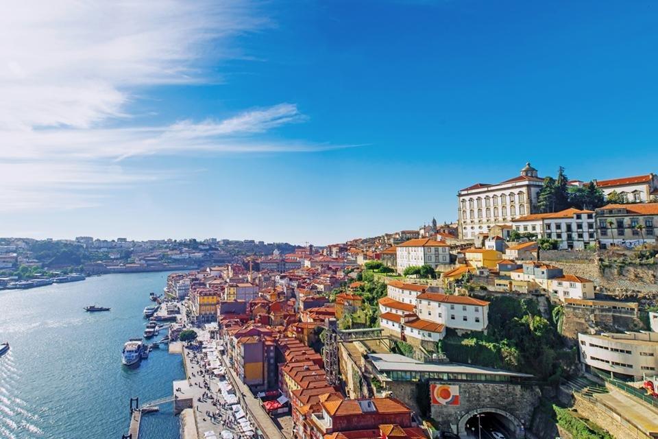 Zicht op Porto, Portugal