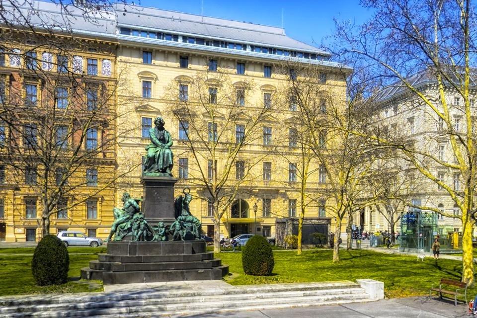 Beethoven Denkmall in Wenen, Oostenrijk