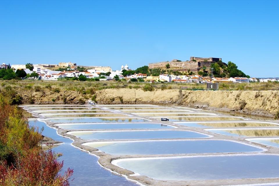Zoutpannen bij Castro Marin, Portugal