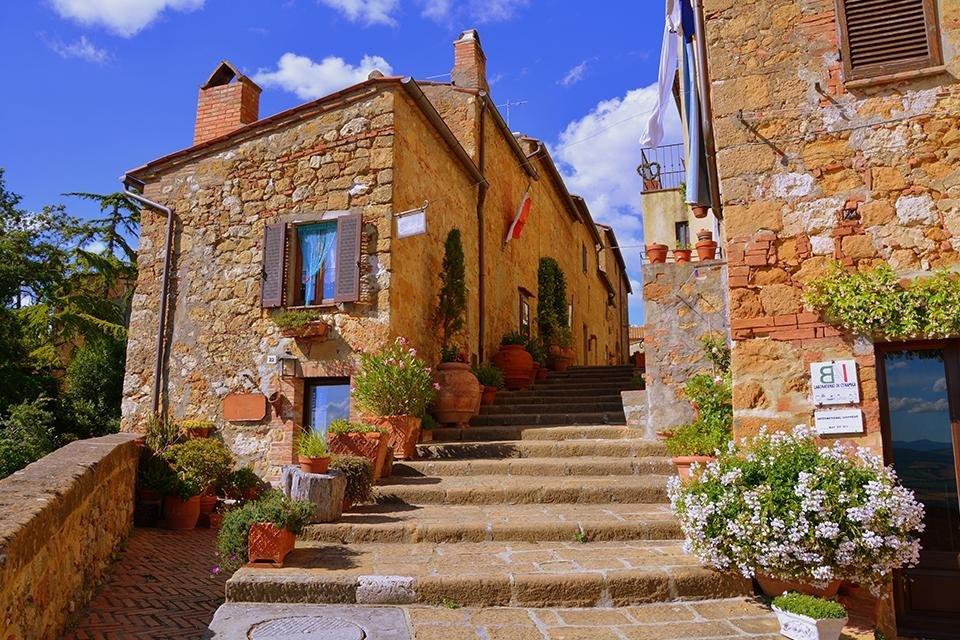 Pienza, Toscane, Italië