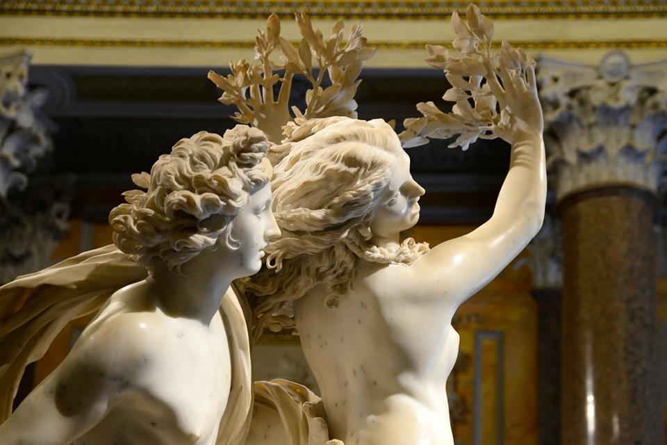 Apollo en Daphne van Bernini in de Gallaria Borghese, Rome, Italië