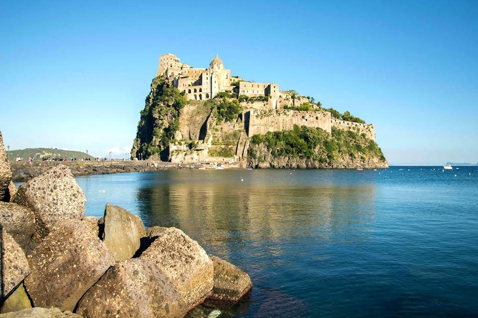 Het groene eiland Ischia, Italië