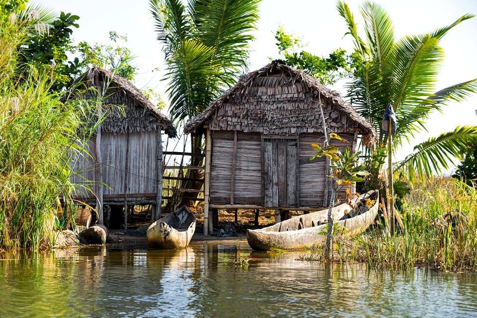 Vissersbootjes in Madagaskar