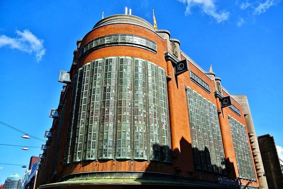 Het Bijenkorf-gebouw Den Haag Nederland