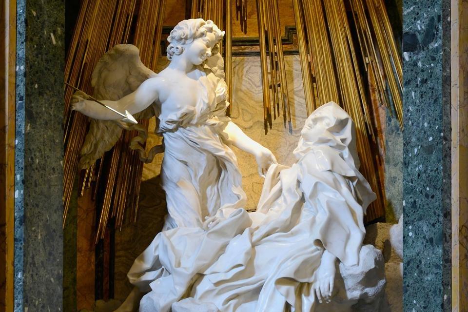 Bernini's heilige Teresa in de Santa Maria della Vittoria, Rome, Italië