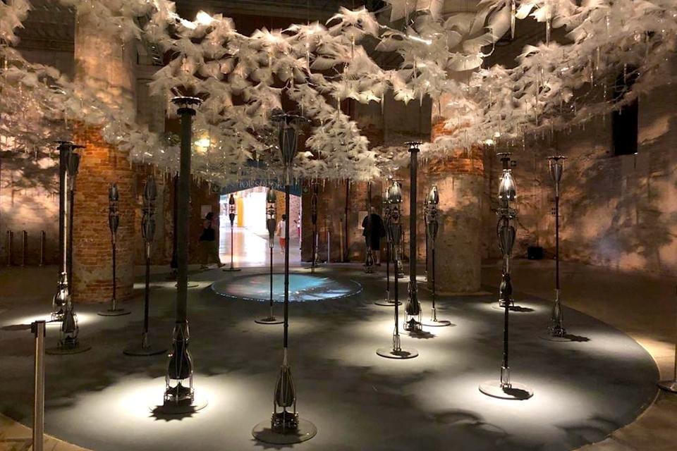 Multidisciplinair werk Grove, architectuurbiënnale Venetië, Italië