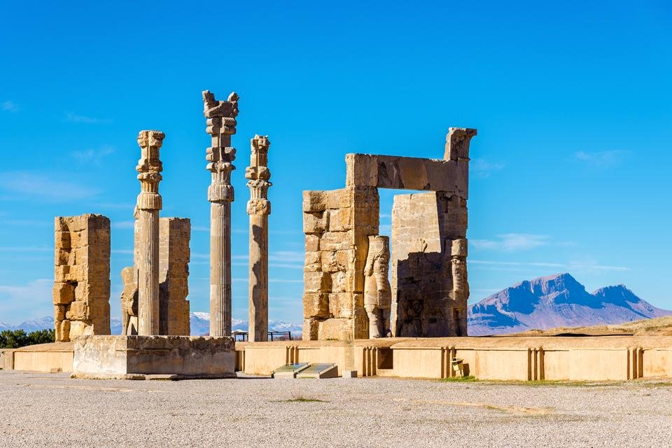 Poort der Naties in Persepolis, Iran