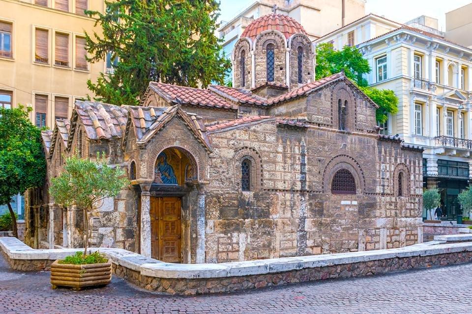 Oudste kerkje van Athene, Griekenland