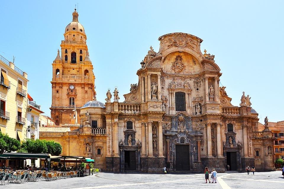 De kathedraal van Murcia, Spanje