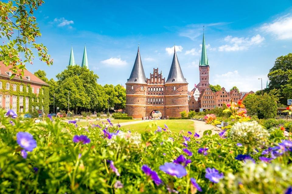 De Holstentor in Lübeck, Duitsland