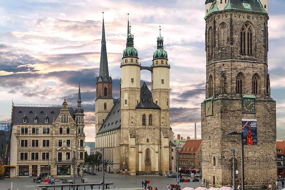 Marktkirche in Halle, Duitsland