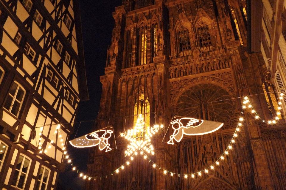 Straatsburg, Frankrijk tijdens kerst