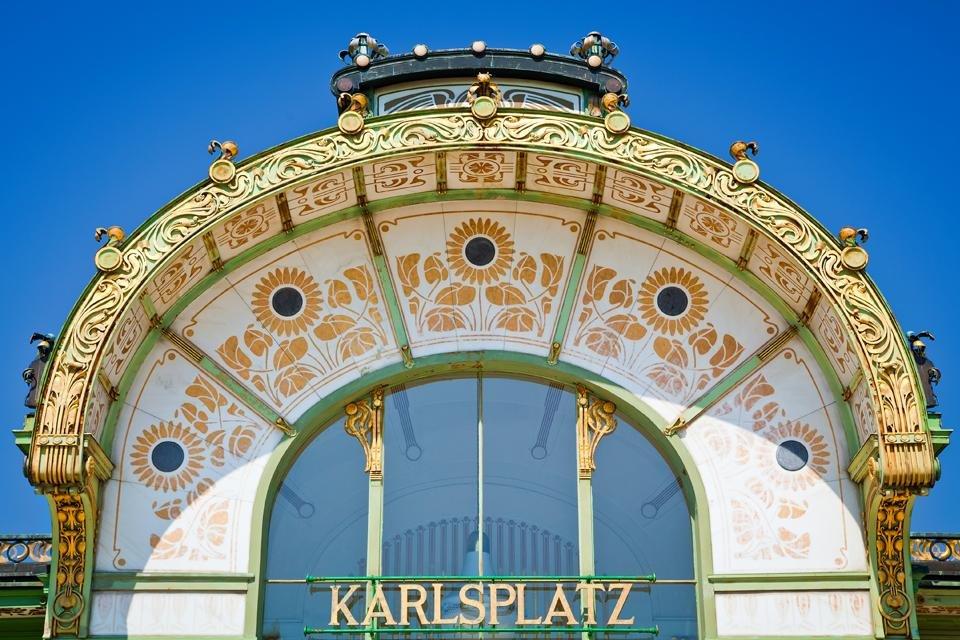 Karlsplatz in Wenen, Oostenrijk