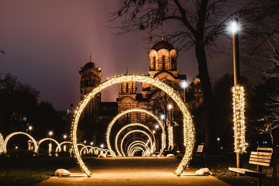 Belgrado, Servië, tijdens kerst