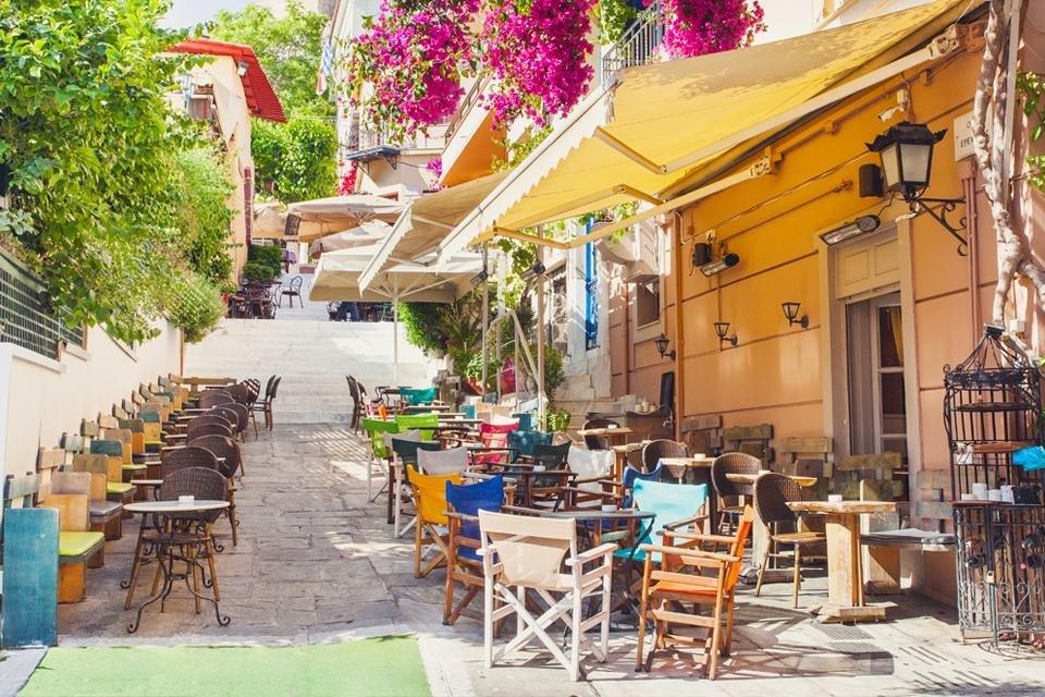 Plaka in Athene, Griekenland