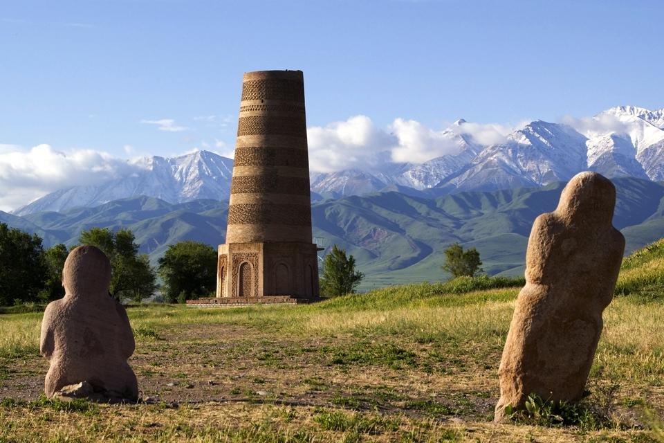 Burana-toren in Kirgizië