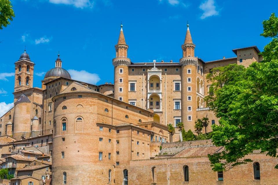 Palazzo Ducale in Urbino, Italië