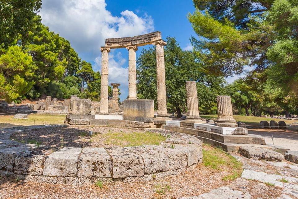 Opgraving van Olympia, Griekenland