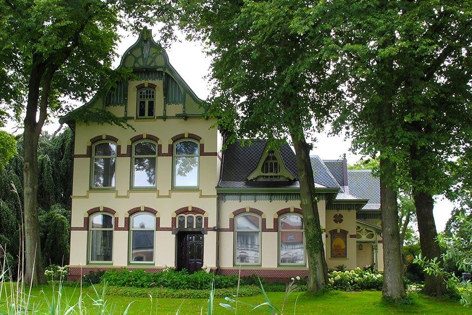 Art nouveau villa Usquert Nederland
