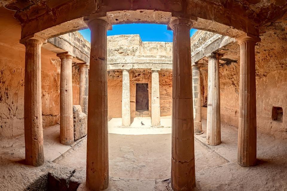 Pafos, koningsgraf, Cyprus