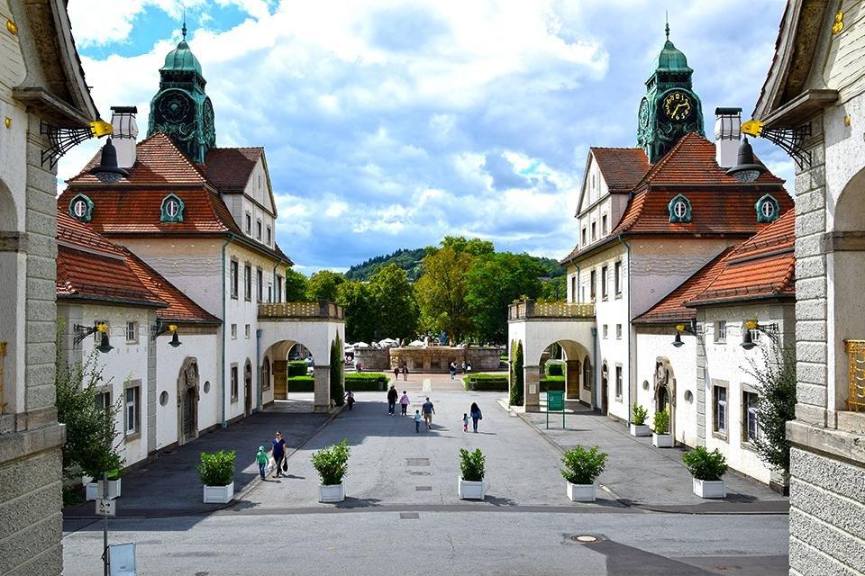 Sprudelhof in Bad Nauheim, Duitsland
