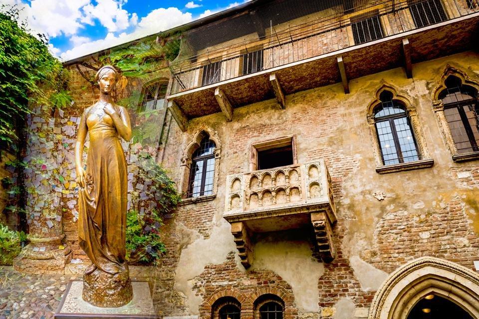 Huis van Julia in Verona, Italië