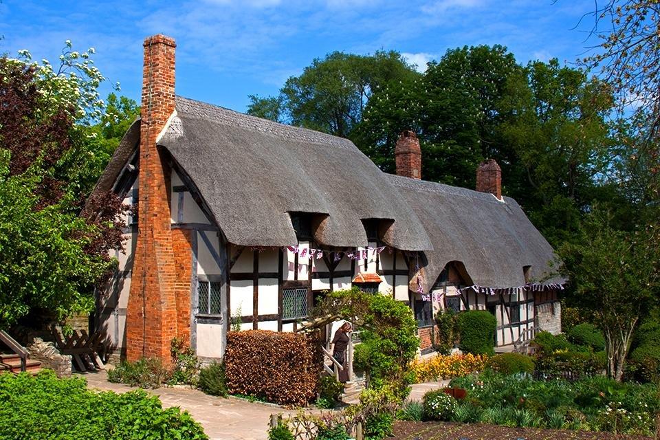 Ann Hathaway's cottage, Stratford, Engeland