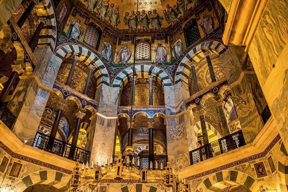 De Paltskapel van de dom van Aken, Duitsland