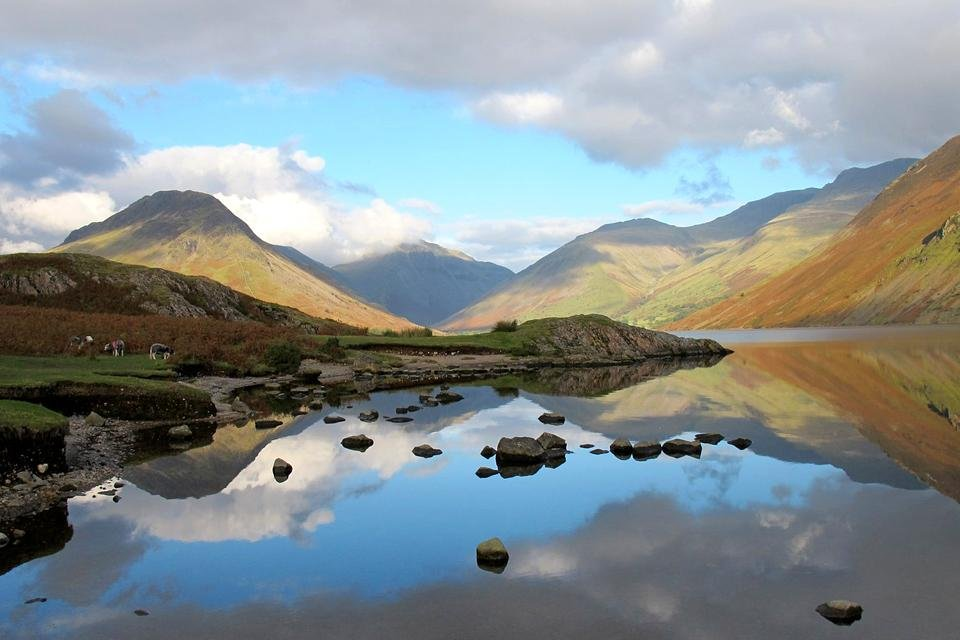 Wastwater, Lake District, Cumbria, Groot-Brittannië