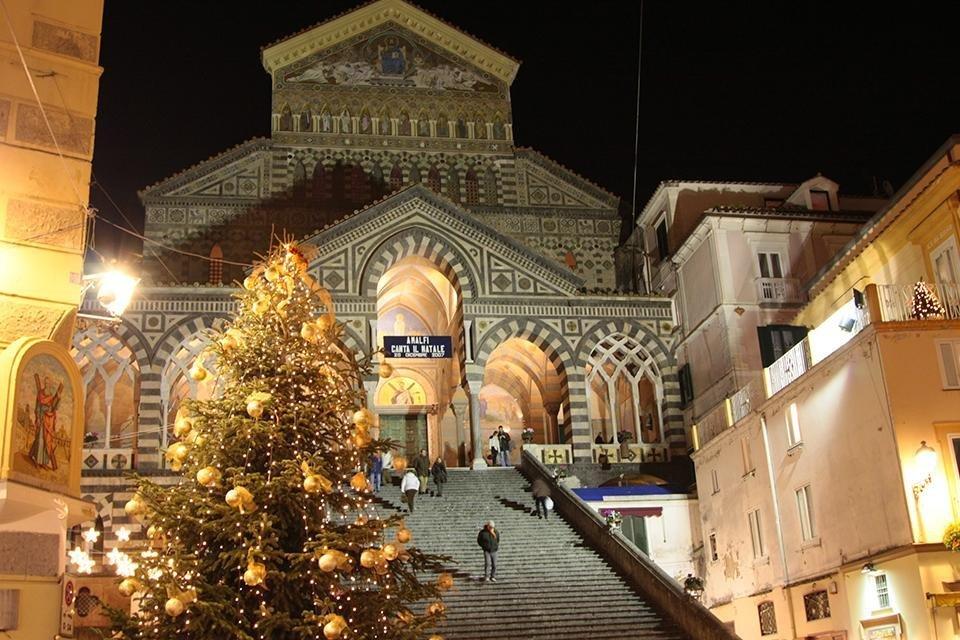 Kerst in Amalfi, Italië