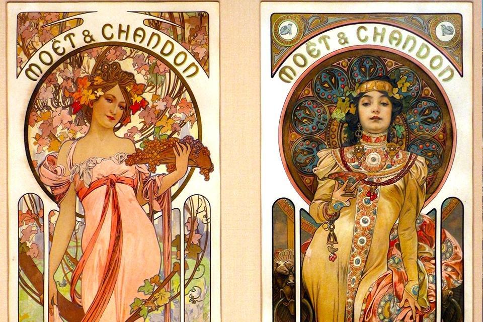 Alfons Mucha, Moët et Chandon, Frankrijk