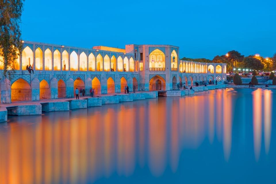 Khaju-brug in Isfahan, Iran