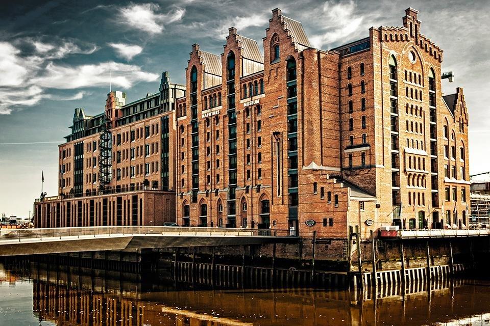 Speicherstadt in Hamburg, Duitsland