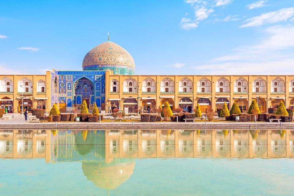 Het Imamplein in Isfahan, Iran