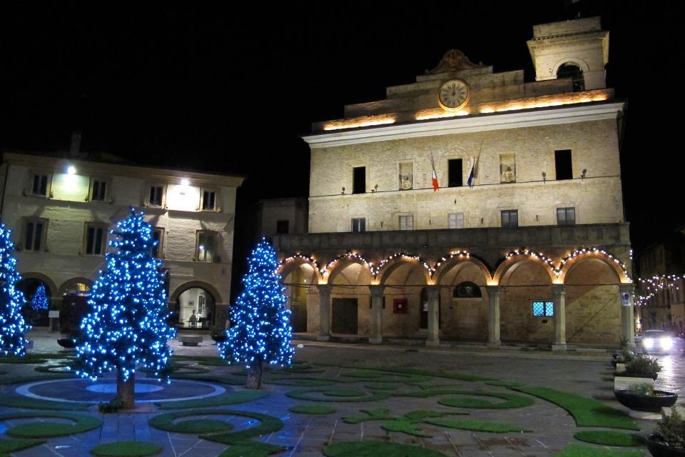 Kerst in Montefalco, Umbrië, Italië