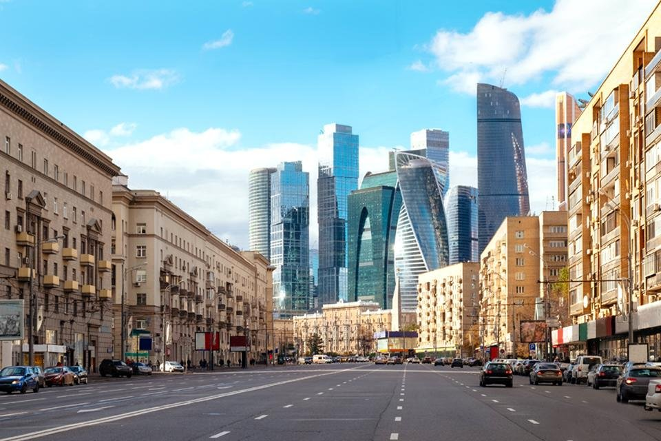 Moscow-City in Moskou, Rusland